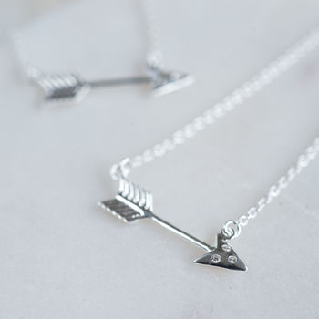 Sterling Arrow Necklace