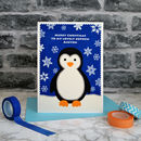 'Penguin' Personalised Childrens Christmas Card