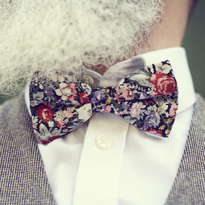 Mixed Floral Bow Tie - ties & tie clips
