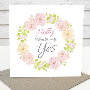 Personalised 'Please Say Yes' Card