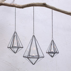 Hanging Lantern - new in garden