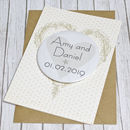 Personalised Keepsake Magnet Wedding Card