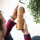 Personalised Sustainable Bamboo Bottle For Teachers