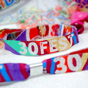 30 Fest 30th Birthday Party Festival Wristbands Favours