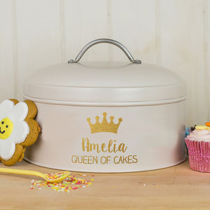 Personalised Queen Cake Tin - gifts for mothers