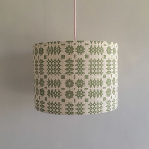Welsh Blanket Print Lampshade - bedroom