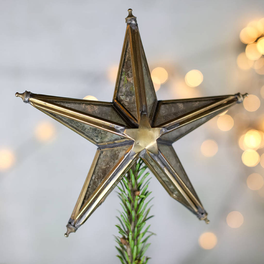 Letter Christmas Tree Topper: Mirrored Star Tree Topper By All Things Brighton Beautiful