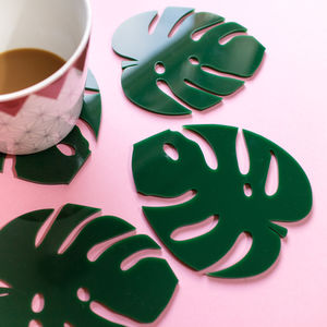 Cheese Plant Leaf Coasters - on trend: botanical