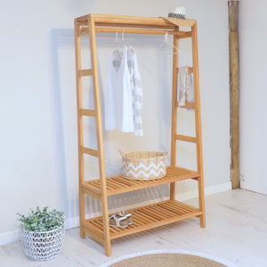 Wooden Clothes Unit - wardrobe organisers