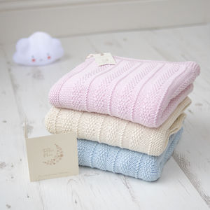 Baby Boys And Girls Knitted Bubble Blanket