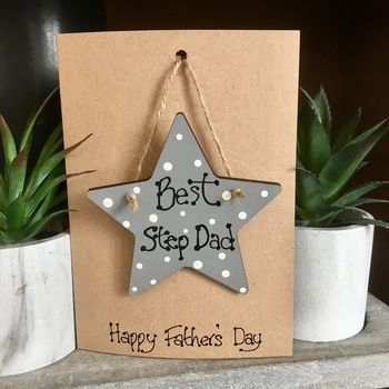 Father's Day Step Dad Keepsake Personalised Card