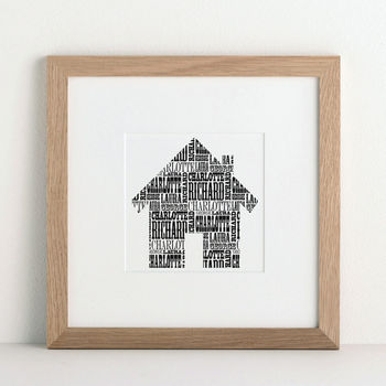 Personalised Family House Print