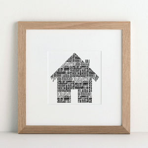 Family House Print - gifts under £25