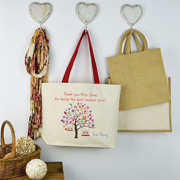 Personalised Teacher Tree Bag