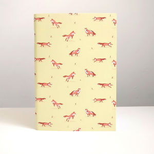 Fox Illustrated Notebook