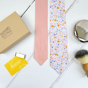 Handmade Mix And Match Personalised Tie : Pink Floral