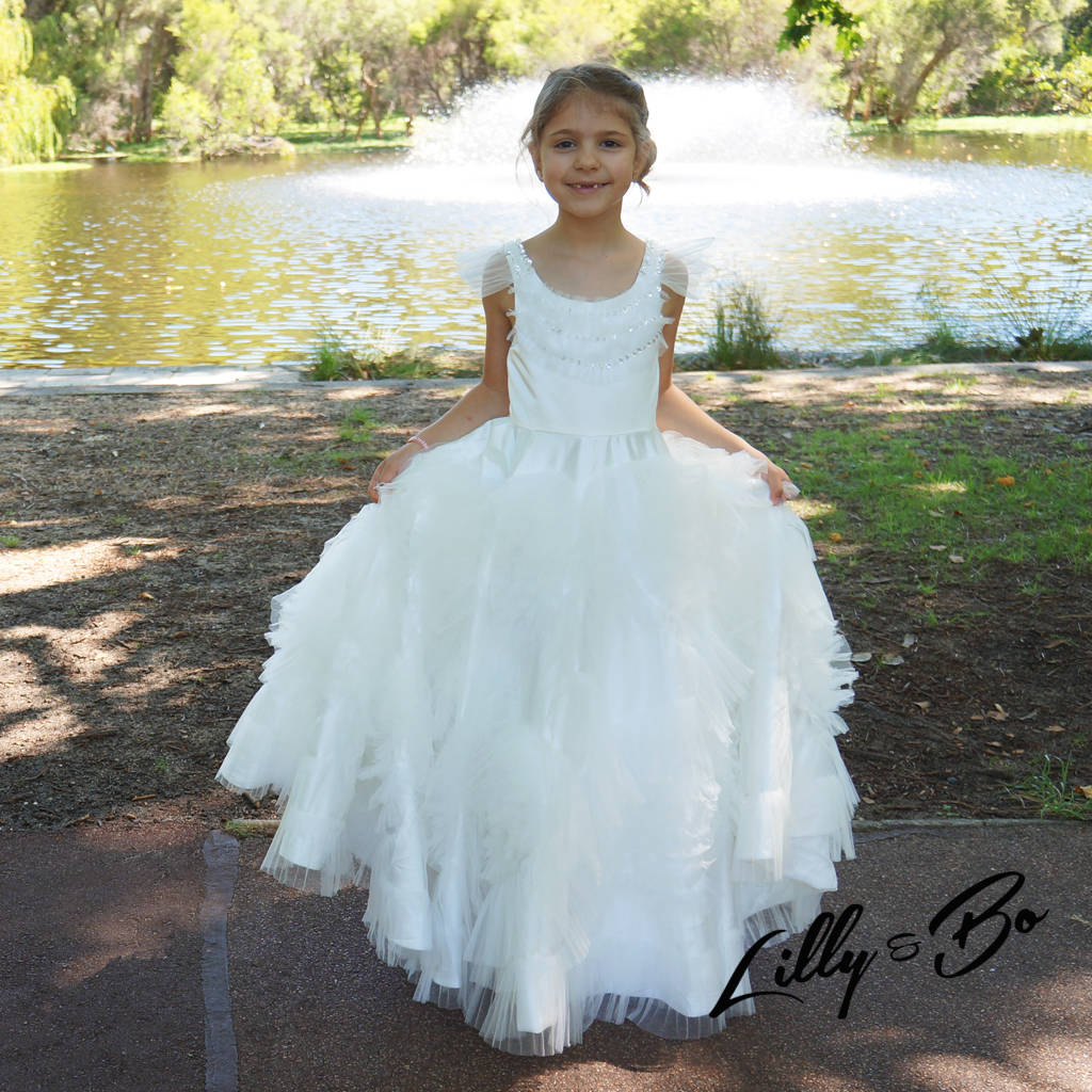 valentina ~ flower girl | christening dress by lilly + bo ...