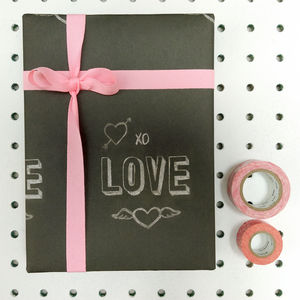 'Love' Chalkboard Wrapping Paper