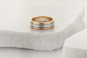 Three Colour Gold Wedding Ring - new in wedding styling
