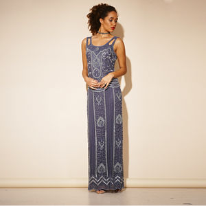 Adelaide Sequin Maxi Dress - clothing