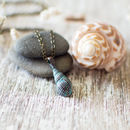 Small Sea Shell Patina Necklace