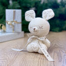 Personalised Kangaroo Hand Knitted Teddy Bear