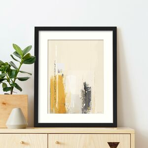 Mustard Yellow And Grey Abstract Wall Art