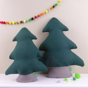 Christmas Tree Shaped Pillows - children's room