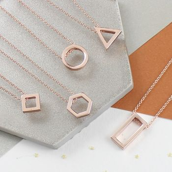 Rose Gold Geometric Necklaces