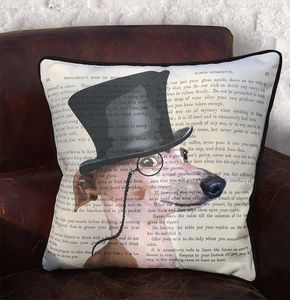 Greyhound Cushion, Formal Dog Collection - cushions