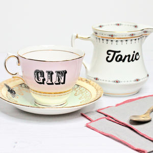 Upcycled Vintage Gin And Tonic Set - tableware