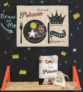 Kids Chalkboard Placemat Princess Design - tableware