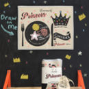Kids Chalkboard Placemat Princess Design