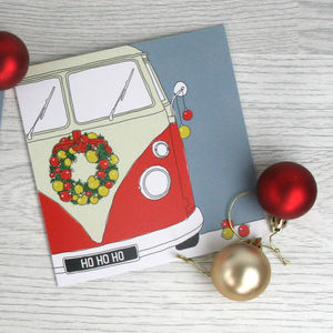 Campervan Christmas Card 'Christmas Camper' - shop by category