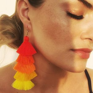 Tassel Earrings In Tutti Frutti - view all new