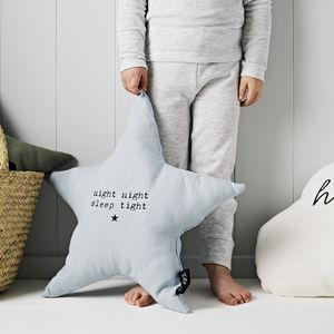 'Night Night Sleep Tight' Linen Cushion