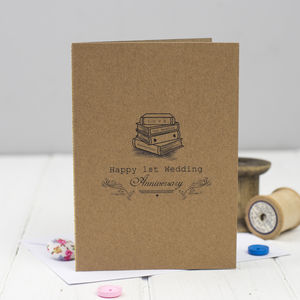 First Wedding Anniversary Card Paper