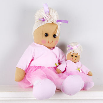 Mother And Daughter Ballerina Rag Dolls