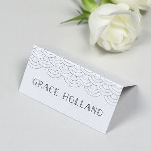 Millie Art Deco Personalised Place Card/Name Card