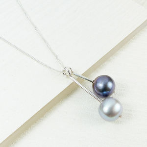 Double Pearl Pendant - necklaces & pendants
