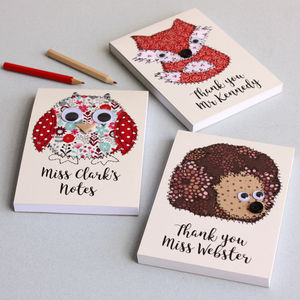 Personalised Teacher's Embroidered Notepad - notepads & to do lists