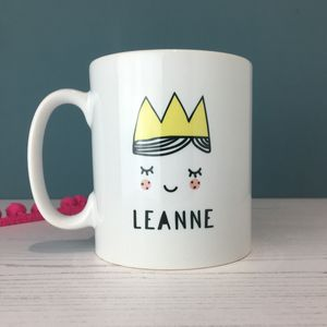 Cute Personalised Princess Mug