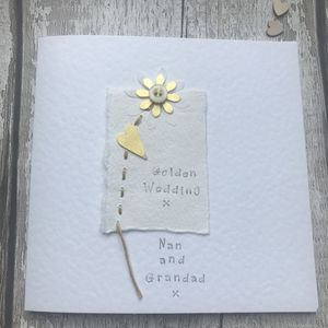 Personalised Golden Wedding Anniversary Card