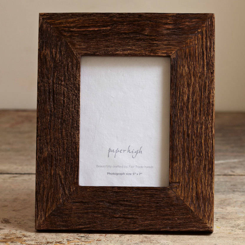 handmade natural wooden photo frame by paper high ...