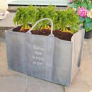 Personalised Eco Jute Garden Grow Bag