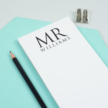 Personalised Notepad For Valentines