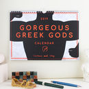 2019 Greek Gods Wall Calendar