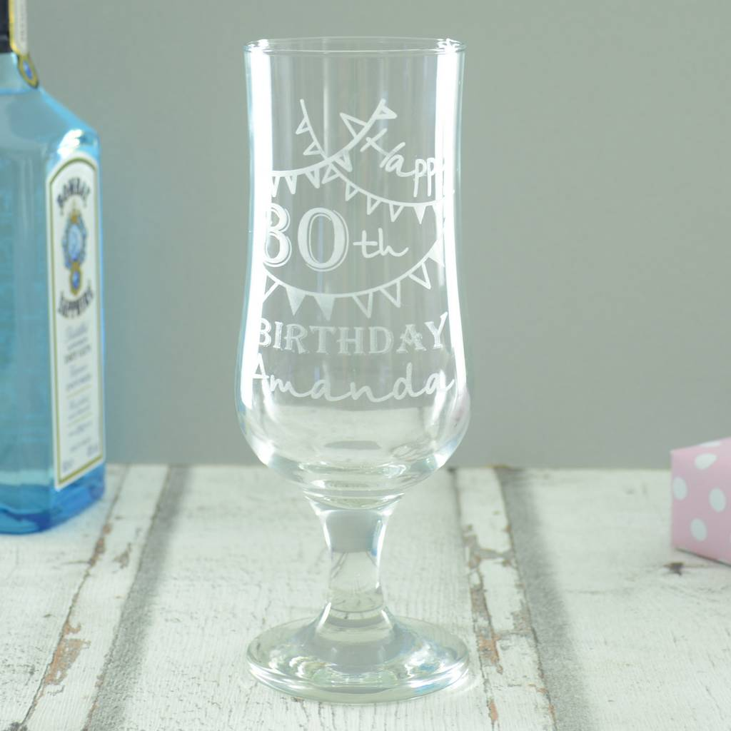 Personalised 30th Birthday Engraved Cocktail Glass