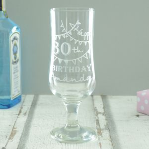 Personalised 30th Birthday Cocktail Glass