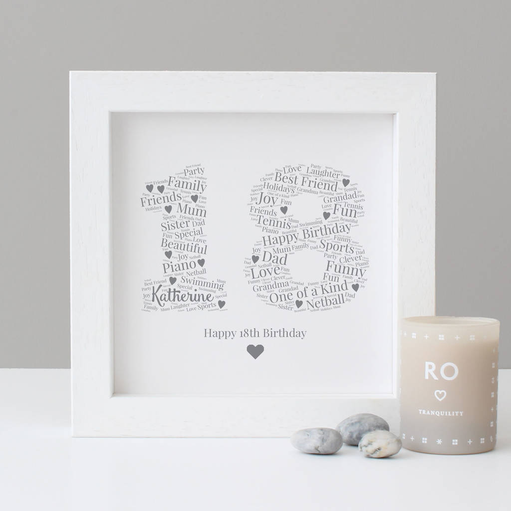 Personalised 18th Birthday Gift Print